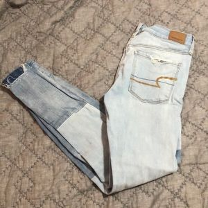 american eagle patch jeans